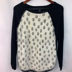 Style Co Sweater Animal Cheetah Print Soft Fuzzy S